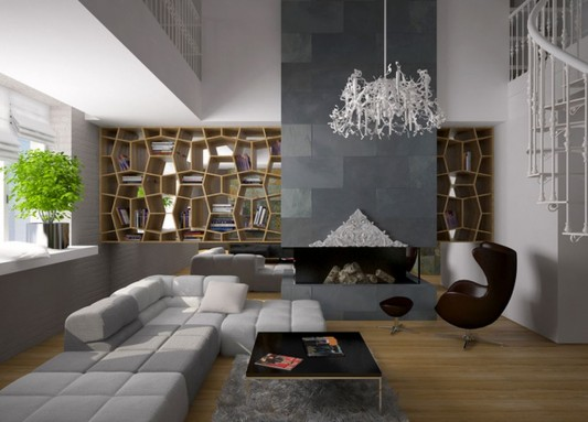 Mediterranean Apartment Interior In Modern Style By Andrey