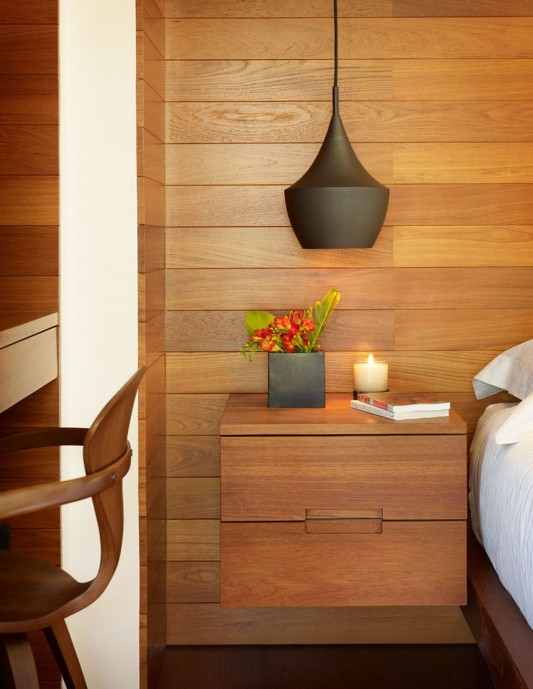 33rd Street Residence by Rockefeller Partners Architects wooden bed side table