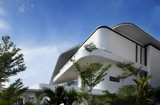 Tropical language house architecture design in singapore for Tropical architecture house design