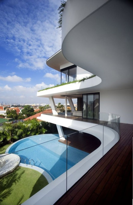Tropical Language House Architecture Design In Singapore Ninety7 Siglap By Aamer Architects