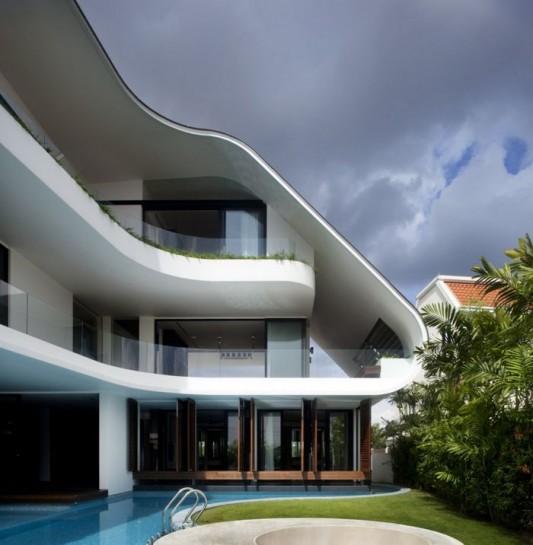 Tropical Language House Architecture Design In Singapore
