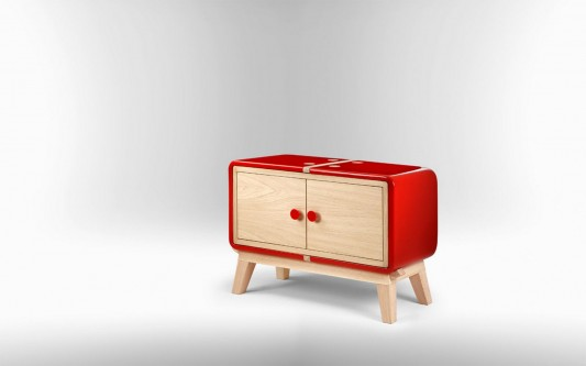 Amazing colorful KERAMOS Ceramic shell cabinet by Coprodotto