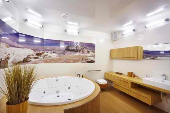 Apartment Interior Design With Wood Floors, bathroom design ideas