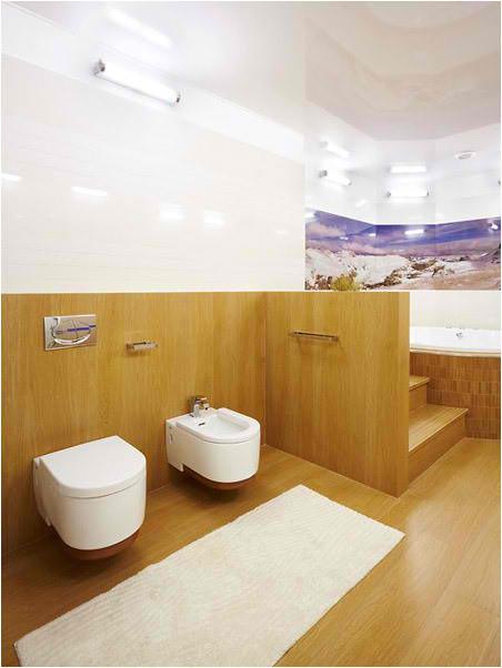 Apartment Interior Design With Wood Floors, bathroom interior