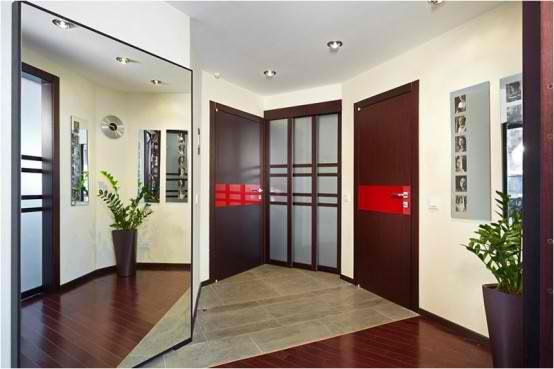 Apartment Interior Design With Wood Floors, door