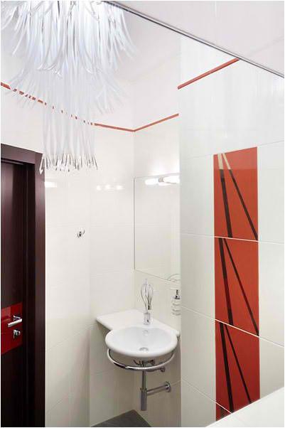 Apartment Interior Design With Wood Floors, washbasin