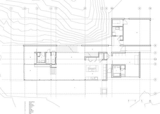 Custom lake house design by della valle bernheimer for Custom lake house plans