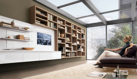 Be Modern And Simple Smart Wall Units Books Place Amazing Living Room Interior