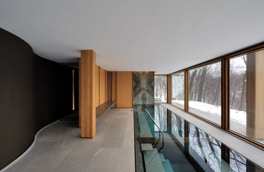Beautiful Integral House by Shim-Sutcliffe Architects artistic curved interior