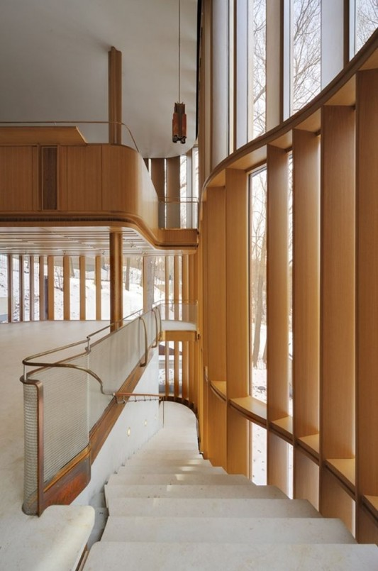 Beautiful Integral House by Shim-Sutcliffe Architects artistic stairs design
