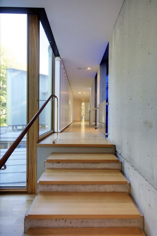 Beautiful Integral House by Shim-Sutcliffe Architects wooden stairs design