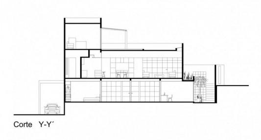 Beautiful Minimalist M-House drawing plan