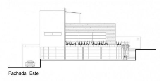 Beautiful Minimalist M-House facade plan