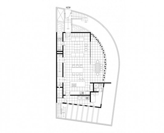 Beautiful Minimalist M-House first floor plan
