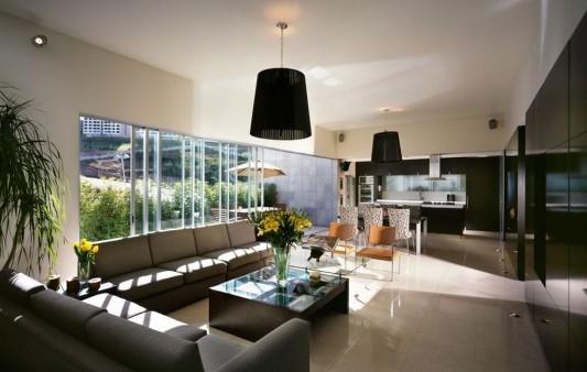 Beautiful Minimalist M-House modern living room