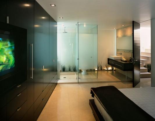 Beautiful Minimalist M-House modern master bedroom