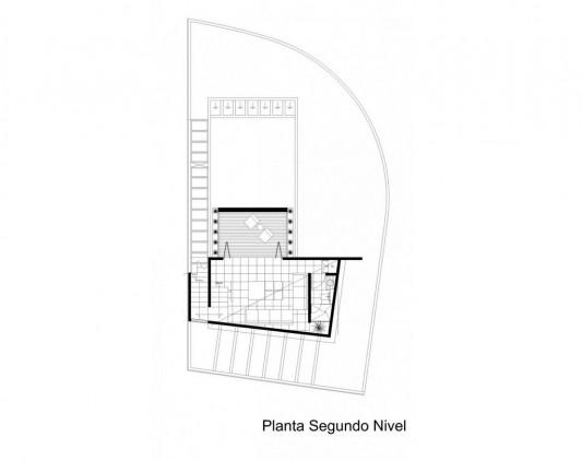 Beautiful Minimalist M-House second floor plan
