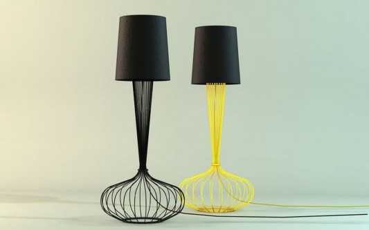 Beautiful floor lamps design with artistic hand made metal legs
