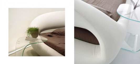 Beautiful organic bed high level comfortable detailed