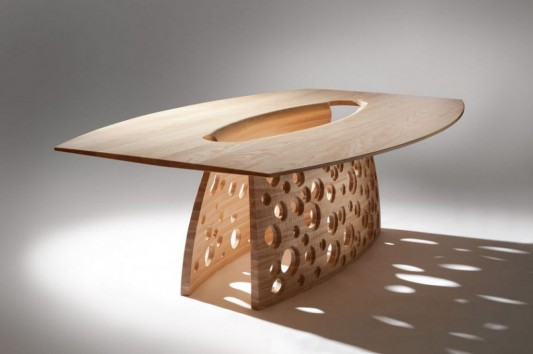 Beautiful solid ash dining table by John Lee
