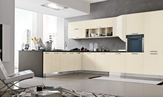 Big Modular Kitchen Decoration With Milly Collection From Stosa