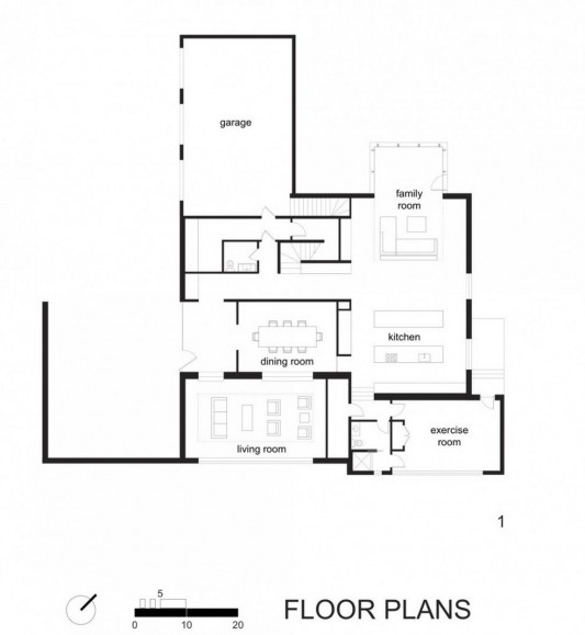 Black And White Minimalist House Design floor plans