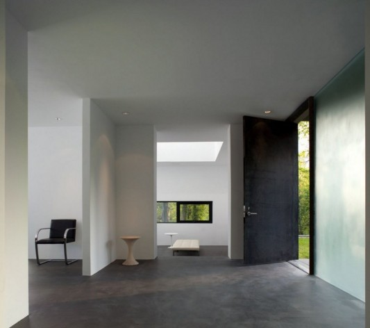 Black And White Minimalist House Design interior