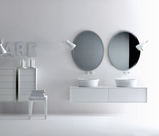 Coco washbasin wall for luxury bathroom furniture