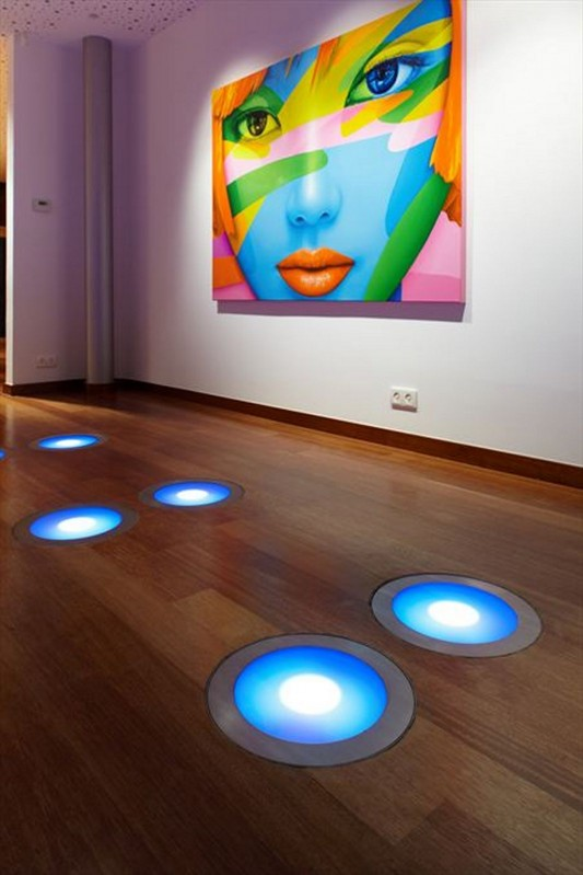 Colorful House Ideas Yazgan Design Architecture LED floor lighting