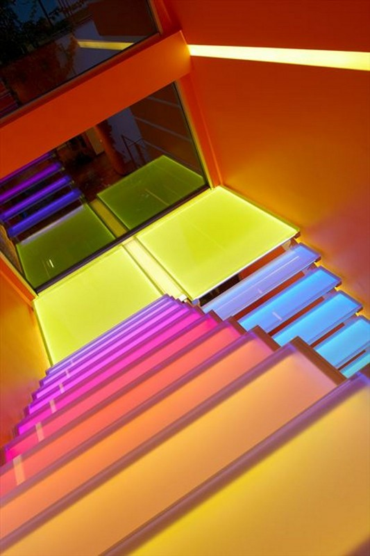 Colorful House Ideas Yazgan Design Architecture colorful stair top view