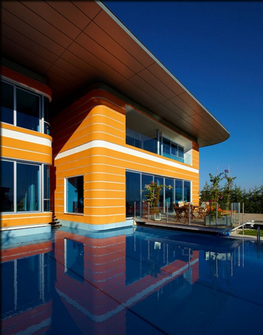 Colorful House Ideas Yazgan Design Architecture swimming pool