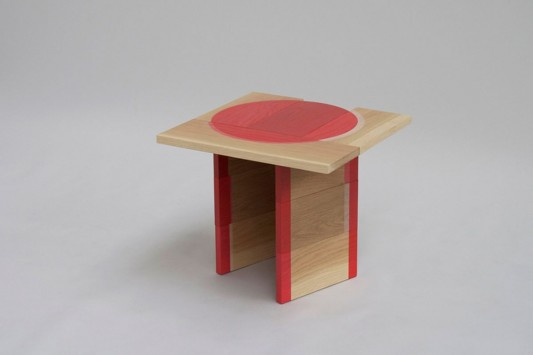 Colour Me Red simple wooden table