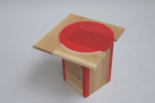 Colour Me Red wooden table design