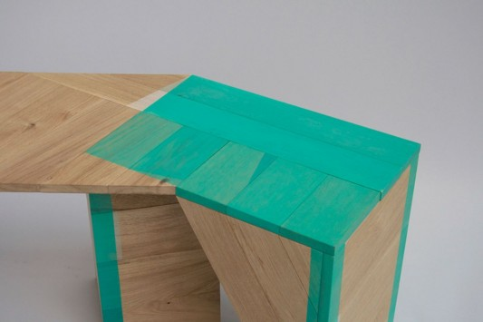 Colour Me Green abstrac table design detailed