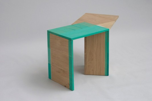 Colour Me Green abstrac wooden table design