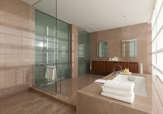 Comfortably Luxurious Penthouse in Fairmont Building bathroom design