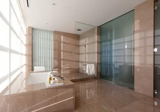 Comfortably Luxurious Penthouse in Fairmont Building bathroom ideas