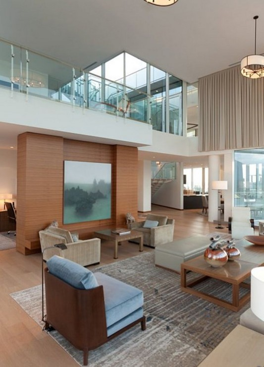 Comfortably Luxurious Penthouse in Fairmont Building interior ideas