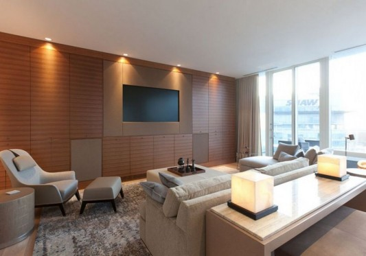 Comfortably Luxurious Penthouse in Fairmont Building interior lighting