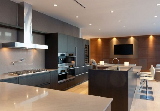 Comfortably Luxurious Penthouse in Fairmont Building kitchen design