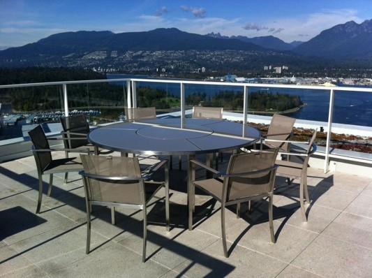 Comfortably Luxurious Penthouse in Fairmont Building roof terrace