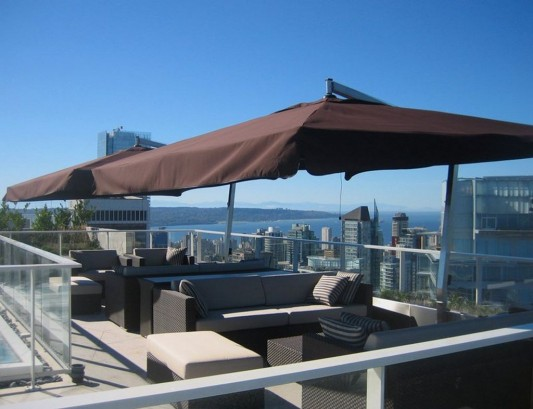 Comfortably Luxurious Penthouse in Fairmont Building roof terrace lounge