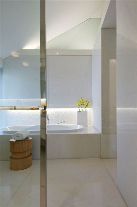 Completely Contemporary home remodel bathroom with bathtubs