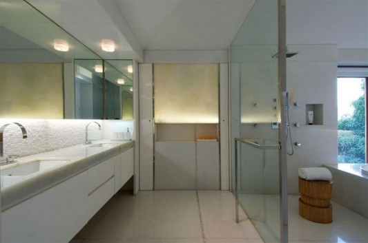 Completely Contemporary home remodel large and luxury bathroom