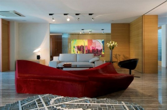 Completely Contemporary home remodel lounge living room