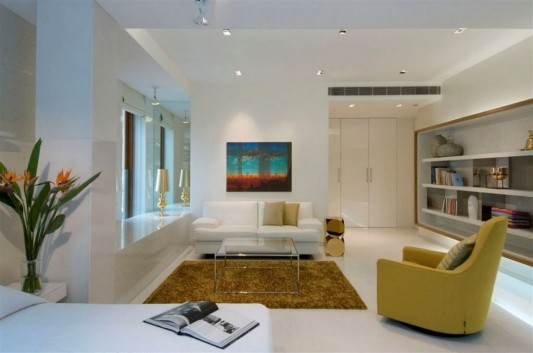 Completely Contemporary home remodel modern living room concept