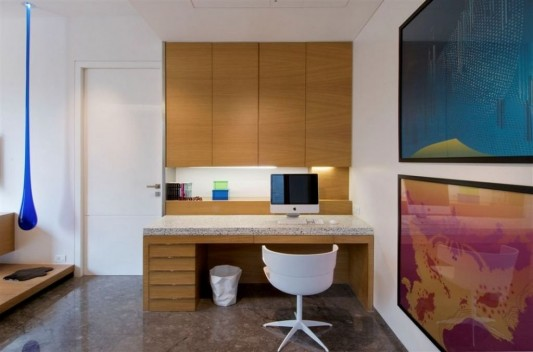 Completely Contemporary home remodel working room design
