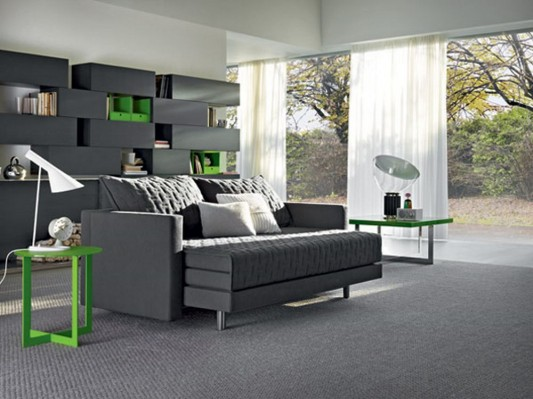Contemnporary and functional sofa bed design