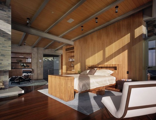 Contemporary Altamira Residence by Marmol Radziner bedroom
