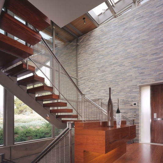Contemporary Altamira Residence by Marmol Radziner stair
